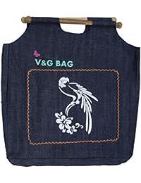 Multipurpose Washble Denim Grocery Bag/Fruit Vegetable Bag/General Use Bag/Shopping Bag/Luggage Bag | DCPW001