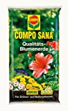 COMPO SANA Qualitäts-Blumenerde mit 8 Wochen Dünger für alle Zimmer-, Balkon- und Gartenpflanzen, Kultursubstrat, 20 Liter