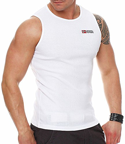 Geographical Norway Herren Tank Top Jakob White