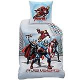 CTI - Marvel - Housse de Couette Avengers City Enfant Coton, Gris, 200x140 cm