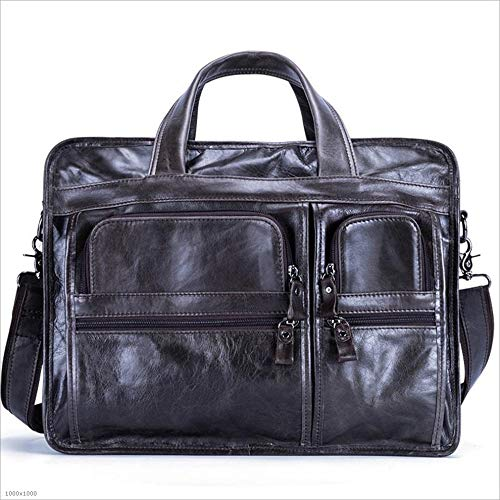 YαYα Männer Womens Tote Bag Schulter Lässige Reise Handtasche Office Business Aktentasche für 13 Zoll Tablet Laptop (Farbe : Kaffee - Farbe)