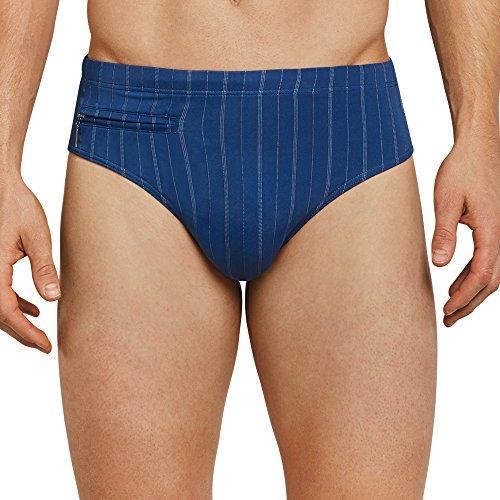 Schiesser Herren Badehose Bade-Sir Slip Form mit Tasche Blau (Indigo 824)