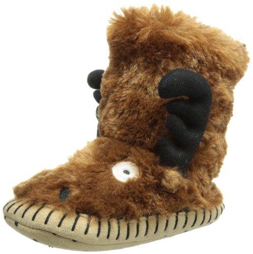 Hatley  Slouch - Moose,  Pantofole ragazzo Marrone Marrone