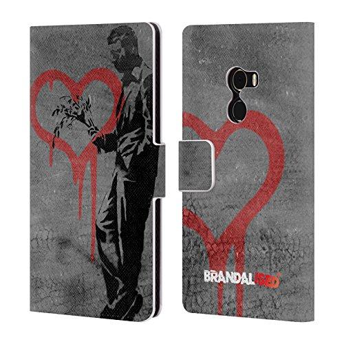 Head Case Designs Offizielle Brandalised The Hustler Banksy Kunst Straßenkünstler Brieftasche Handyhülle aus Leder für Xiaomi Mi Mix 2 (Leder Hustler)