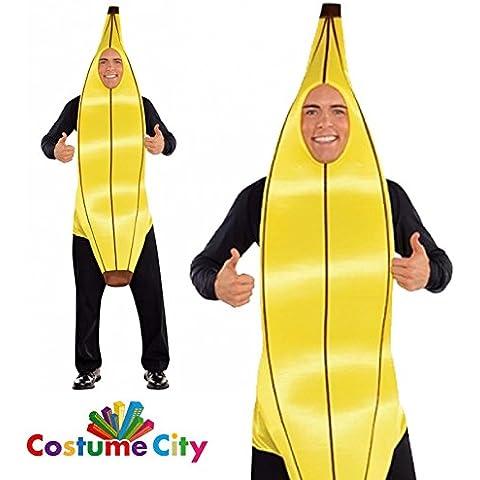 Disfraz de Plátano o banana para adultos en talla universal