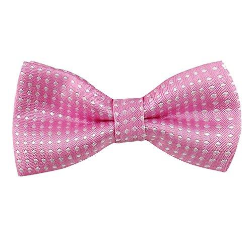 Enjoymore enfants garçons Lovely Tuxedo cou Cravate réglable Nœud papillon en différentes couleurs turquoise turquoise Taille unique Pink White Dot
