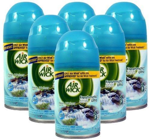 Freshmatic Ultra 6 x Airwick-Spray Refills Aqua essenze acque dolci, colori della natura, 250 ml