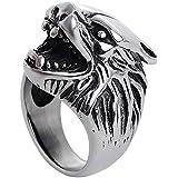 Anillo de la cabeza de los animales anillo único anillo personalizado para los hombres