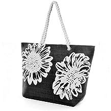 Bolsa de verano/de playa con estampado de flores para mujer