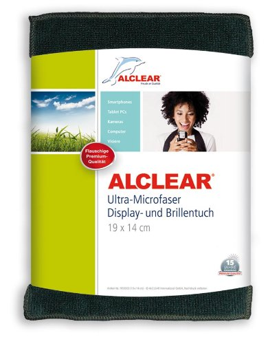 ALCLEAR 950003a Ultra-Microfaser Displaytuch für iPhone, iPad und iPod, 19x14 cm, anthrazit