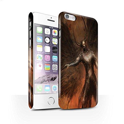 Offiziell Chris Cold Hülle / Glanz Snap-On Case für Apple iPhone 6S / Pack 10pcs Muster / Dunkle Kunst Dämon Kollektion Schwarzen Flügeln