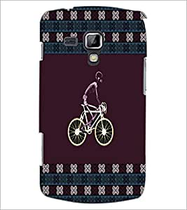PrintDhaba Skeleton on Cycle D-6010 Back Case Cover for SAMSUNG GALAXY S DUOS S7562 (Multi-Coloured)
