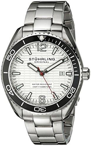 Stuhrling 515.01 - Orologio da polso da uomo, cinturino in acciaio inox colore argento
