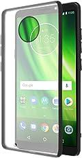 Amazon Brand - Solimo Moto G6 Mobile Cover (Hard Back & Black Flexible Bumper), Transparent