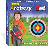 #10: Archer Bow and Arrow, Quiver, 3 Arrows, Strong String Thread, Target Board