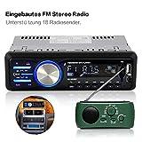 Bedee Autoradio KFZ Bluetooth Audio Empfänger MP3 Player mit Freisprecheinrichtung für iPhone / iPad / iPod / Smartphone, Unterstützung USB/AUX Anschluss SD Karten ISO Anschlußkabel 1 DIN schwarz - 3