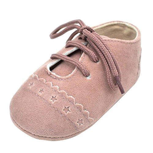 FNKDOR Baby Jungen Mädchen Schuhe Lauflernschuhe Krabbelschuhe für 0-18 Monate (12-18 Monate, Pink)