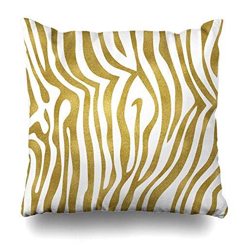 Dekorative Kissen Fall Kissenbezüge für Couch/Bett 18 x 18 Zoll, Metallic Gold Zebra Startseite Sofa Kissenbezug Kissenbezug Geschenk Bett Car Living Home -