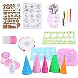 19PCS Papier Quilling DIY Craft Kit Avec Panneau De Broderie Pinces Stylo De Quilling DIY Décoration Pour Maison Et Bureau