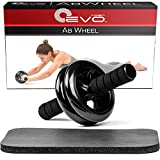 Yoga Evo AB kit de roue pour abdominaux - Core Ensemble de roue et Genouillère pour abdominaux et les exercices de Cor (Noir)