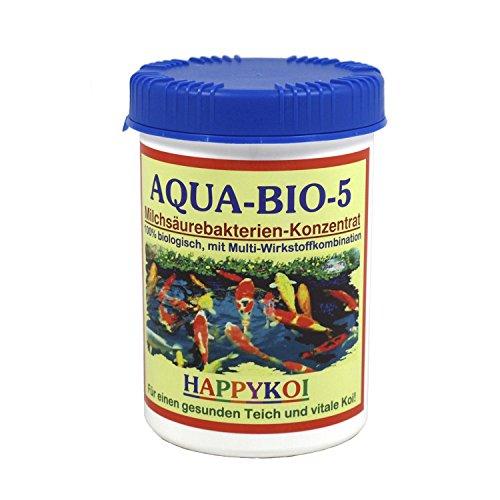 AQUA BIO 5 Milchsäurebakterien Pulver Bakterien Teich Koi, Inhalt:1000 ml -