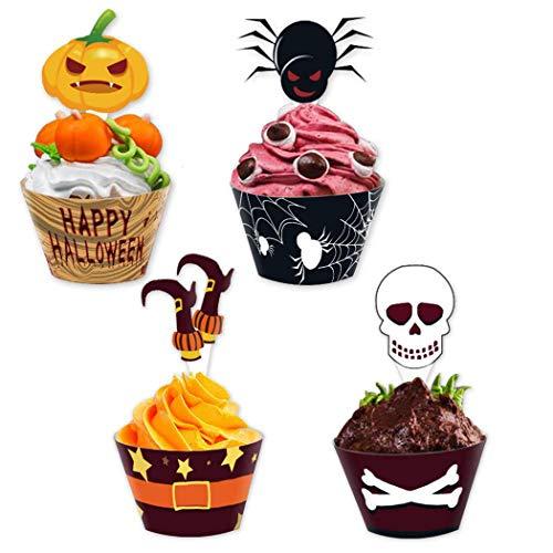 een Kuchenverpackung Cartoon Cupcake Liner Mit 12PCS Cupcake Pick ()