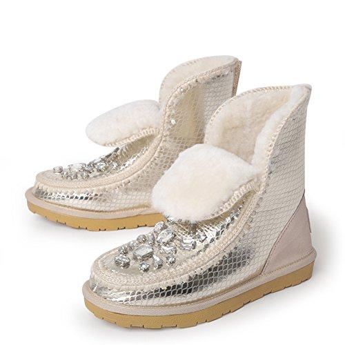 Winter Schneeschuhe/Ein kurzes Rohr Stiefel/ Stiefel warme Wohnung/ Freizeitschuhe A