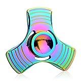 Zenoplige Finger Spinner Fidget Mano K11 Dito Hand Spinner Toy Spin widget Focus Giocattolo Antistress Alta Velocita Super Acciaio Inox Cuscinetto Tasca Perfetto per Adulti e Bambini, Multicolore immagine