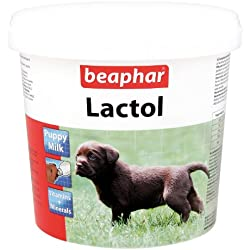 Leche en polvo fortificada para cachorros de perro y gato, con vitaminas, 500 g, de Beaphar
