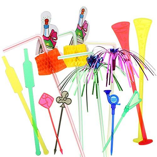Celebración cóctel decoración–Set para fiesta cóctel decoraciones y accesorios