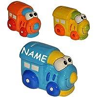 Preisvergleich für alles-meine.de GmbH Sparschwein - Eisenbahn / Zug - Porzellan / Keramik mit Schlüssel - Stabile Sparbüchse Spardose Kinder Figur groß Lokomotive