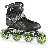 Rollerblade, Pattini in linea Uomo Tempest 100 C, Colore Nero (Black/Green), Taglia  46