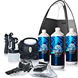 Rapidtan HVLP Spray Tan Kit. Includes 3 Litres Spatan, Quality tanning tent, tan & Disposables (Sticky Feet + caps + Bras + Thongs + solutions).