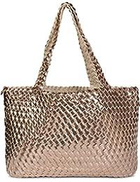 styleBREAKER XXL Wendetasche in Flecht-Optik, Shopper Tasche, Handtaschen Set, 2 Taschen, Bag in Bag, Schultertasche, Damen 02012163