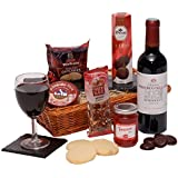 The Gentleman's Food & Wine Basket - Men's Hampers & Gift Baskets For Him - Food & Wine Gift Hamper
