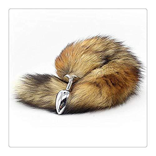 Z-one 1 Lange und Flauschige Fox Metall Schwanz Fell Cosplay Spielzeug Gericht Pluge (braun) (Ihre Für Party Halloween-gerichte)