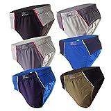 6-12 Slips Herren Unterhosen Männer Slip Unterwäsche Bunt Unterhose Herrendslip als Farbmix (M, 6.Stück 560), Herstellergröße 6