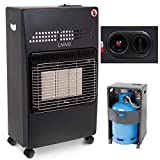 Fineway. 4.2kw Calor Gas Portable Cabinet Heater Fire Butane With Regulator & Hose