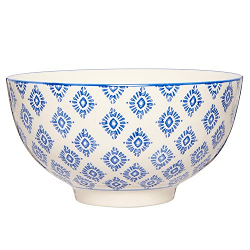 Ib Laursen Casablanca Rigide Motif Floral Bleu