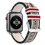 Uhrenarmband, weben Nylongewebe Uhrenarmband Apple Iwatch Ersatz für Männer und Frauen Unisex Erwachsene