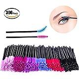 Bysiter 300pcs Mascara Brushes Disposable Eyelash Mascara Wands Eye Lash Applicator Makeup Brush Kit for women girl,Multicolor (300pcs)