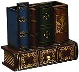 MyGift Dekorative Bibliothek Bücher Design Holz Office Supply Caddy Bleistift Halterung Organizer mit Schublade