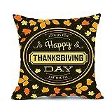 DEELIN Thanksgiving Noël Halloween Imprimé Rectangle 45cmx45cm Housse de Coussin Décor Taie d'oreiller Canapé Taille Jeter Couverture de Coussin