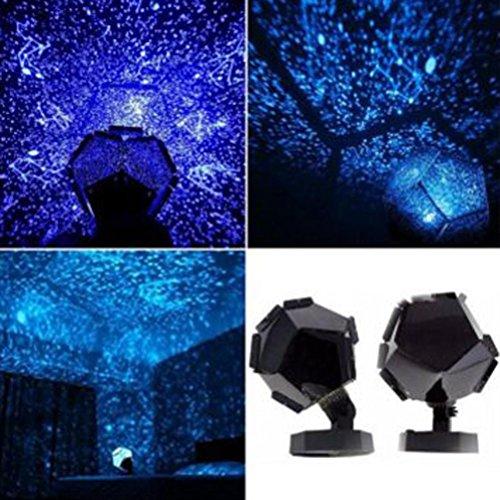TWIFER Celestial Star Cosmos Romantische Stern-Nachtlichter Projektor-Nachtlampe Sternenhimmel Schlafzimmer Dekoration Beleuchtung Gadget (Blau)