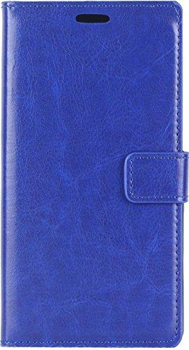 AR Premium - Funda de piel sintética para Samsung Galaxy J2 con tarjetero y tarjetero azul azul