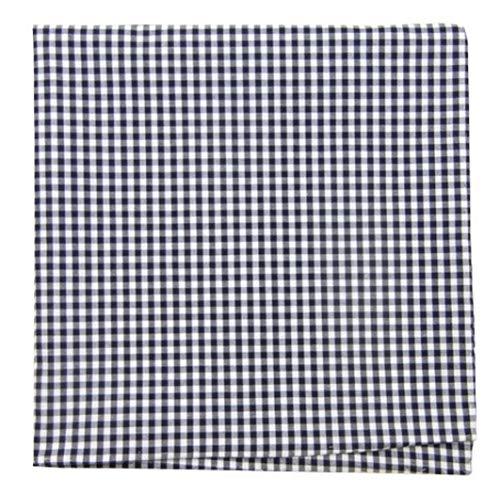 TheTieBar Krawattenleiste aus 100% Baumwolle, kariert, Marineblau -