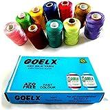 AM Goelx Silk Thread 10 Spools Multicolour For Bangle-Jhumka-Jewellery Designing