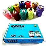 #6: Goelx Silk Thread 10 Spools Multicolour for Bangle-Jhumka-Jewellery Designing