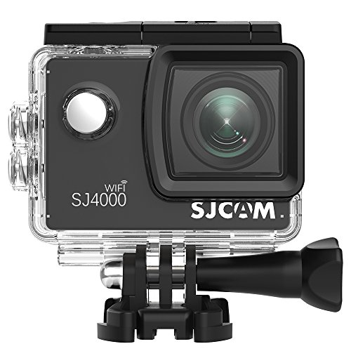 SJCam SJ4000 - Videocámara Deportiva (WiFi, Full HD, 2'' LCD, Sumergible 30 m) Color Negro