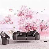 Murale, Fiori Di Pesco Di Casa Fiori Rosa Sfondo Personalizzato Foto Wallpaper Adesivi Murali, 400X288Cm